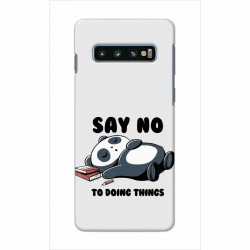 Buy Samsung Galaxy S10 Plus Say No Mobile Phone Covers Online at Craftingcrow.com