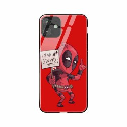 Buy Apple iPhone 11 I am with Stupid- Glass Case Mobile Phone Covers Online at Craftingcrow.com