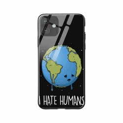 Buy Apple iPhone 11 I Hate Humans- Glass Case Mobile Phone Covers Online at Craftingcrow.com