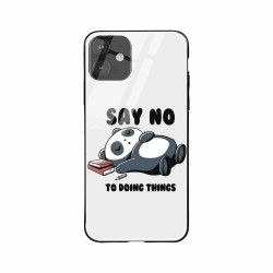 Buy Apple iPhone 11 Say No- Glass Case Mobile Phone Covers Online at Craftingcrow.com