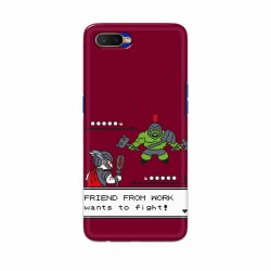 Buy Oppo K1 Friend From Work Mobile Phone Covers Online at Craftingcrow.com