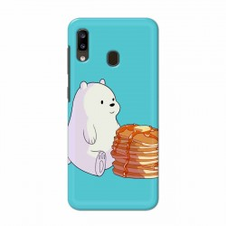Buy Samsung Galaxy A20 Bear and Pan Cakes Mobile Phone Covers Online at Craftingcrow.com
