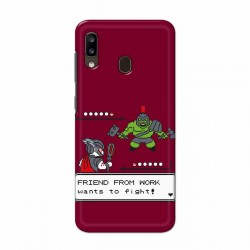 Buy Samsung Galaxy A20 Friend From Work Mobile Phone Covers Online at Craftingcrow.com
