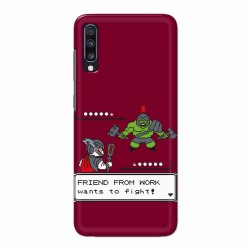 Buy Samsung Galaxy A70 Friend From Work Mobile Phone Covers Online at Craftingcrow.com