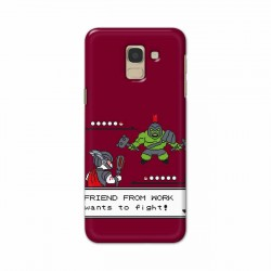 Buy Samsung Galaxy J6 2018 Friend From Work Mobile Phone Covers Online at Craftingcrow.com