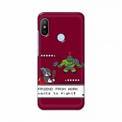 Buy Xiaomi Mi A2 Friend From Work Mobile Phone Covers Online at Craftingcrow.com