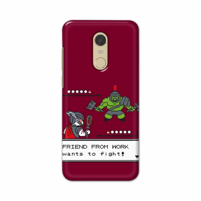 Buy Xiaomi Redmi Note 5 Friend From Work Mobile Phone Covers Online at Craftingcrow.com