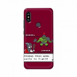 Buy Xiaomi Redmi Note 6 Pro Friend From Work Mobile Phone Covers Online at Craftingcrow.com