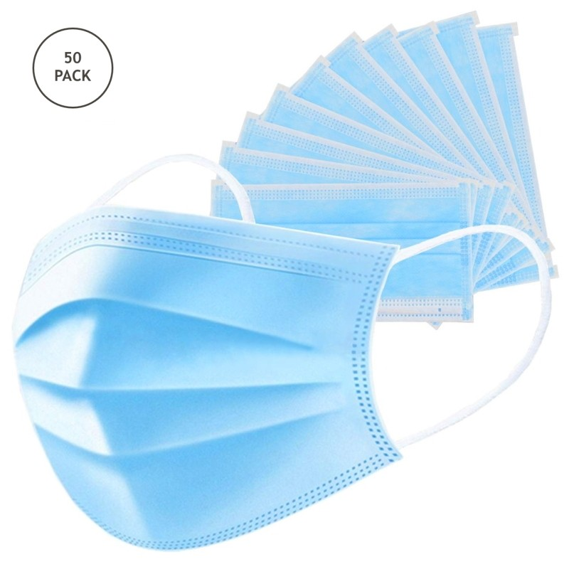 Pack of 50 Disposable Surgical Masks