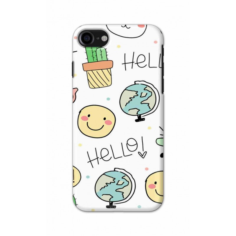 Crafting Crow Mobile Back Cover For Apple Iphone 7 - Hello