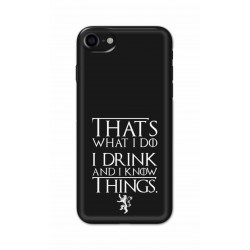 Crafting Crow Mobile Back Cover For Apple Iphone 7 - I Drink