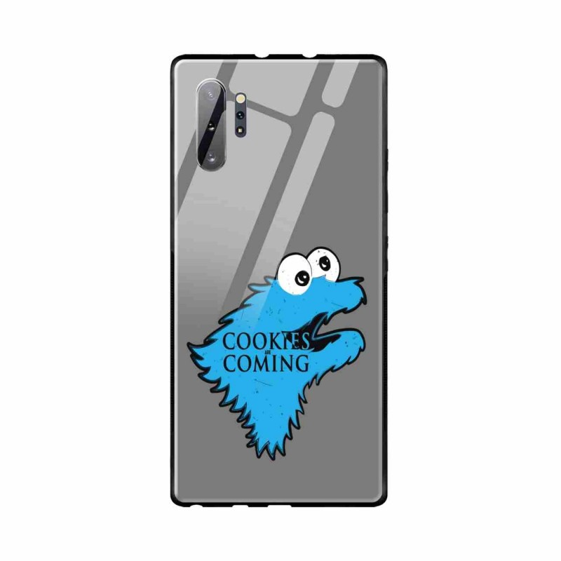 Buy Samsung Galaxy Note 10 Plus Cookies are Coming- Glass Case Mobile Phone Covers Online at Craftingcrow.com