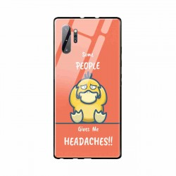 Buy Samsung Galaxy Note 10 Plus Headaches- Glass Case Mobile Phone Covers Online at Craftingcrow.com