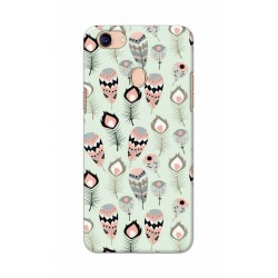 Crafting Crow Mobile Back Cover For Oppo F5 - Feather