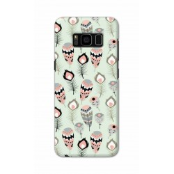 Crafting Crow Mobile Back Cover For Samsung S8 - Feather