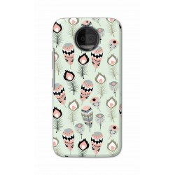 Crafting Crow Mobile Back Cover For Motorola Moto G5S Plus - Feather