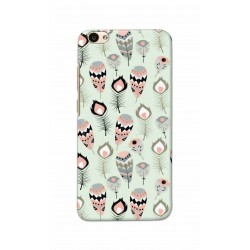 Crafting Crow Mobile Back Cover For Vivo V5 - Feather