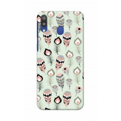 Crafting Crow Mobile Back Cover For Samsung Galaxy M20 - Feather