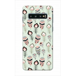 Crafting Crow Mobile Back Cover For Samsung Galaxy S10 Plus - Feather