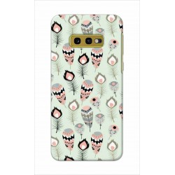 Crafting Crow Mobile Back Cover For Samsung Galaxy S10e - Feather