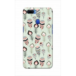 Crafting Crow Mobile Back Cover For Oppo A5 - Feather