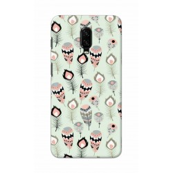 Crafting Crow Mobile Back Cover For One Plus 7 - Feather